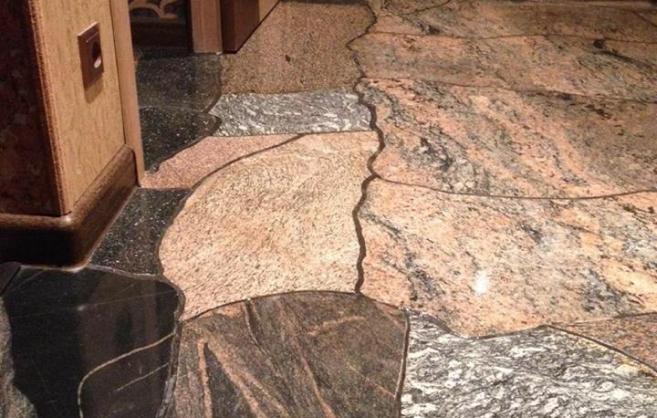 Полированный (шлифованный) камень (плоскость, 1см)